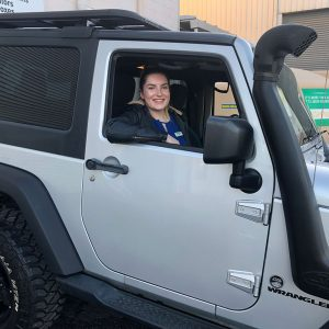 customer testimonial Katie and her jeep Wrangler from Ezilend Newcastle